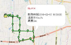 GoogleMapとGPS軌跡の記録